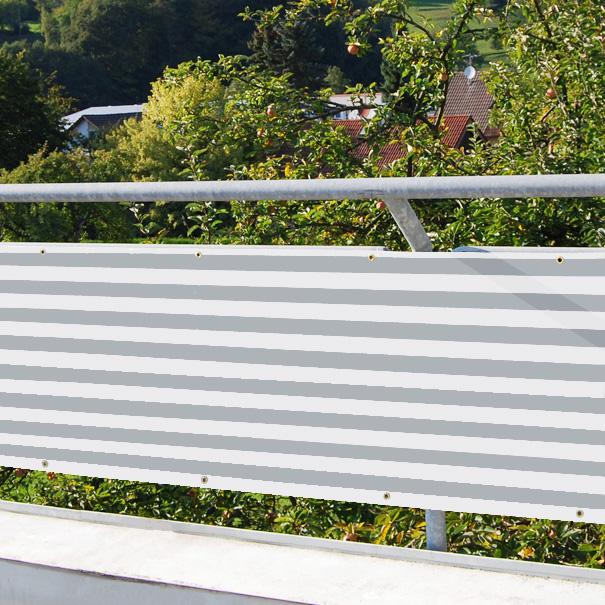 balkonverkleidung 80 cm hoch balkon verkleidung f r balkon 200g m gestreift ebay. Black Bedroom Furniture Sets. Home Design Ideas
