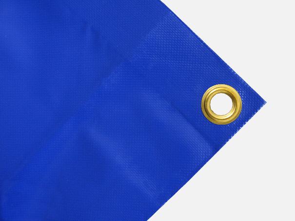 PVC Abdeckplane blau Bild mit blauer Abdeckplane + Öse