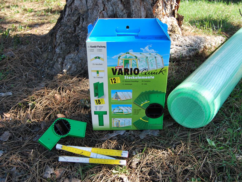 Aufbau eines Gewächshauses mit Vario Quick