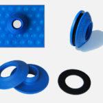 Blaue Öse für Schwimmbadfolie Solarfolie Poolabdeckfolie