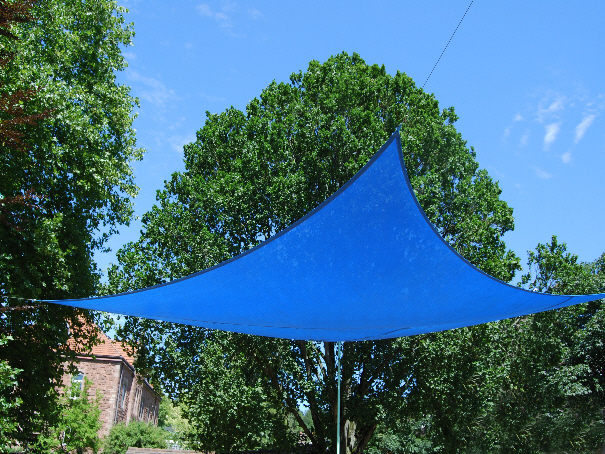 Sonnensegel-blau Sonnenschutzsegel Windschutz Segel