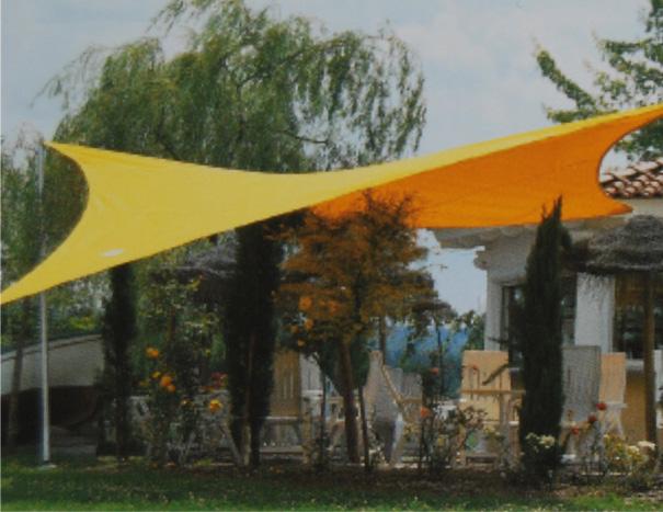 Sonnensegel-gelb Sonnenschutzsegel Windschutz Segel