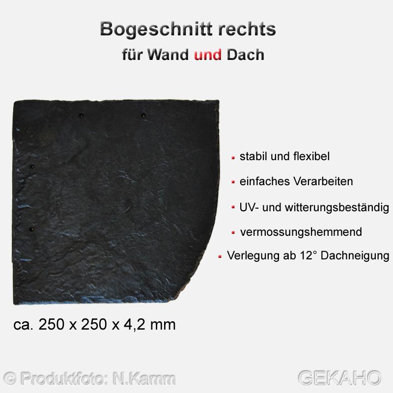 Bogenschnittplatten rechts Stabuflex Dachziegel Platten