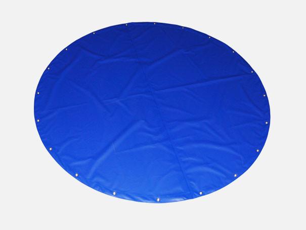 Abdeckplane nach Maß Rund blau Abeckhaube und PVC Plane