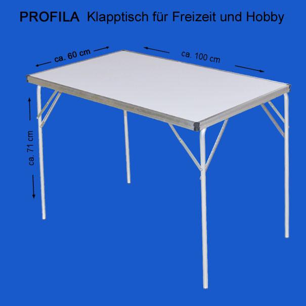 Profila Klapptisch Bild von Einzeltisch und Maße