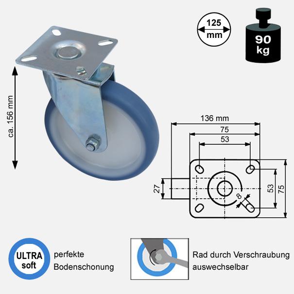 Rollen und Räder-125mm-soft-lenkrolle-1725-2